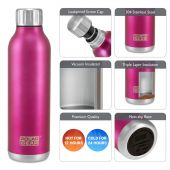Hydra Flow Stainless Steel Vacuum Insulated Bottle - 500ml Berry