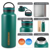 Hydra Surge Kit Stainless Steel Vacuum Insulated Bottle - 1000ml Forest Green