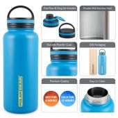 Hydra Surge Kit Stainless Steel Vacuum Insulated Bottle - 1000ml Blue