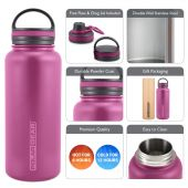 Hydra Surge Kit Stainless Steel Vacuum Insulated Bottle - 1000ml Berry