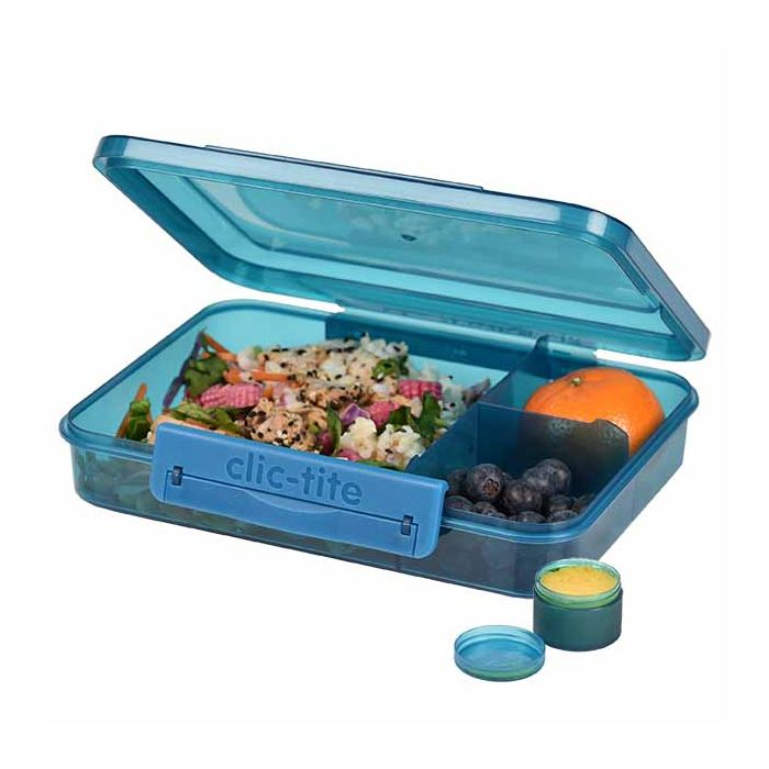 lunch box blue 1L trio clic tite polar gear