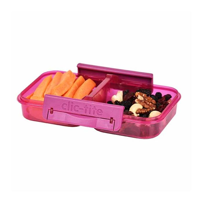 Snack Lunch Box Split Double Pink Berry Clic-Tite Polar Gear