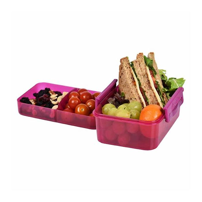 lunch box layered pink 1L clic-tite polar gear
