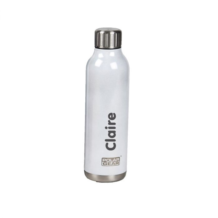 Personalised White Stainless Steel Orion Insulated Bottle