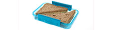 Blue Re-sealable Sandwich Box