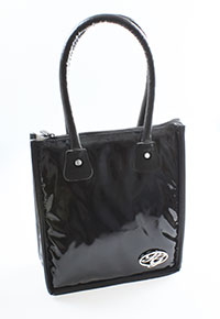 Black Patent Lunch Tote Cooler